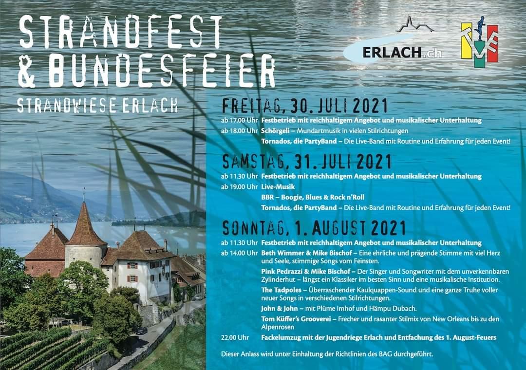 Erlach Strandfest & Bundesfeier 2021